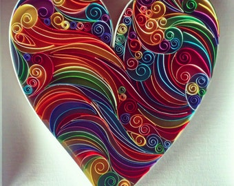 Love Heart - Paper Quilling Art