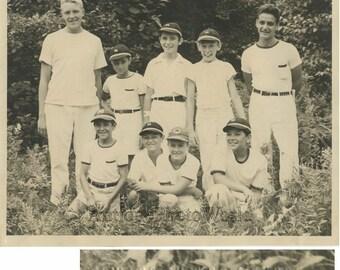Boys at Camp Millbrook NY antique photo