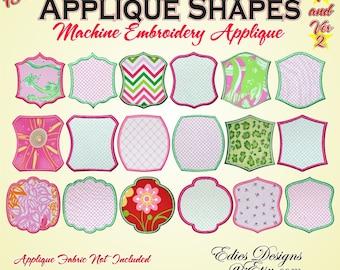Applique Shapes BUNDLE Pack Machine Embroidery Designs Digital Download