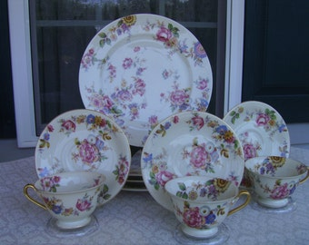 10 Pieces Rosenthal Ivory Bavaria The Sunray Patent 77867 china dinnerware Vintage