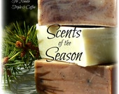 Fall/Holiday/Christmas/Gift. Soap Set of 3 small soaps. Orange Spice, Triple 0 Coffee, Fir Needle
