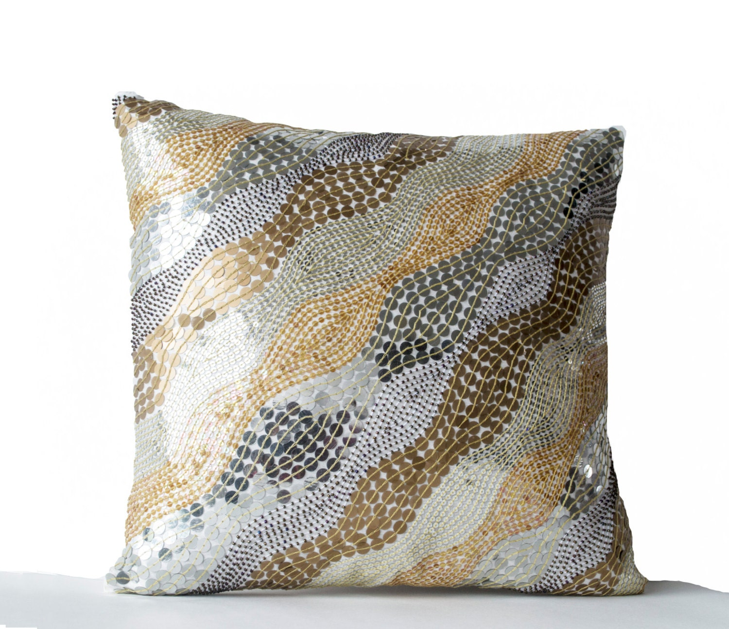 decorative throw pillows embroidered white silk accent pillow. Black Bedroom Furniture Sets. Home Design Ideas