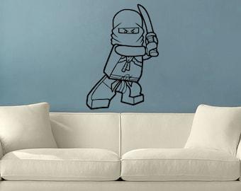 Ninjago Lego Vinyl Wall Decal