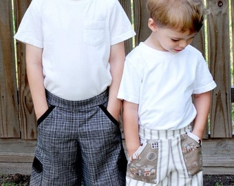 Pattern - The Inside or Out Pocket Pants Paper Sewing Pattern by Fishsticks Designs