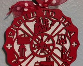 Proud to be a Firefighter Ornament
