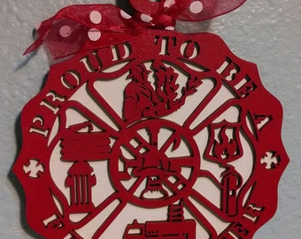 Proud to be a Firefighter Christmas Ornament