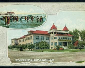 Long Beach California Vintage Sanitarium Tinted Divided Back Unused