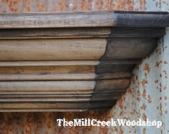 Rustic Wall Shelf 48 Inches Distressed Shelf Ledge Mantel