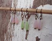 Opal Czech glass earrings