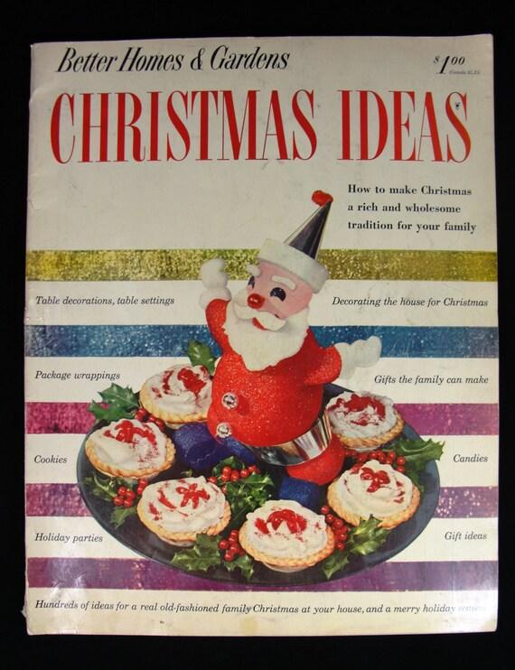 1952 better homes and gardens christmas ideas magazine book