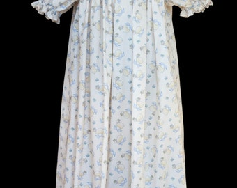 Hand-smocked Bishop yoke nightdress, age 4 to 5, with sheep