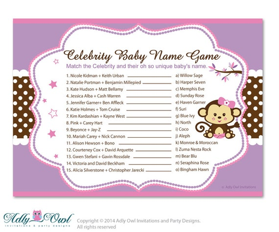 The Celebrity Name Generator | Rum and Monkey