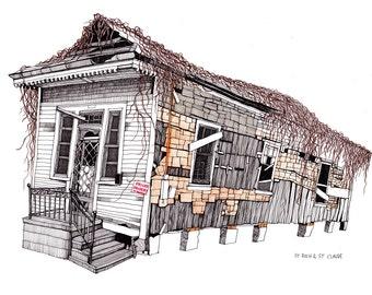 New Orleans House Shotgun Style