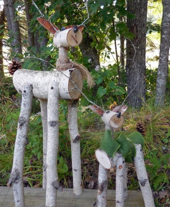 Decoration De Noel Chevreuil En Bois