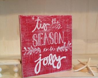 Christmas wood sign | Etsy