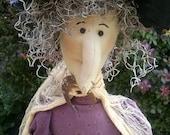 Witch doll, decorative, unique primitive Halloween