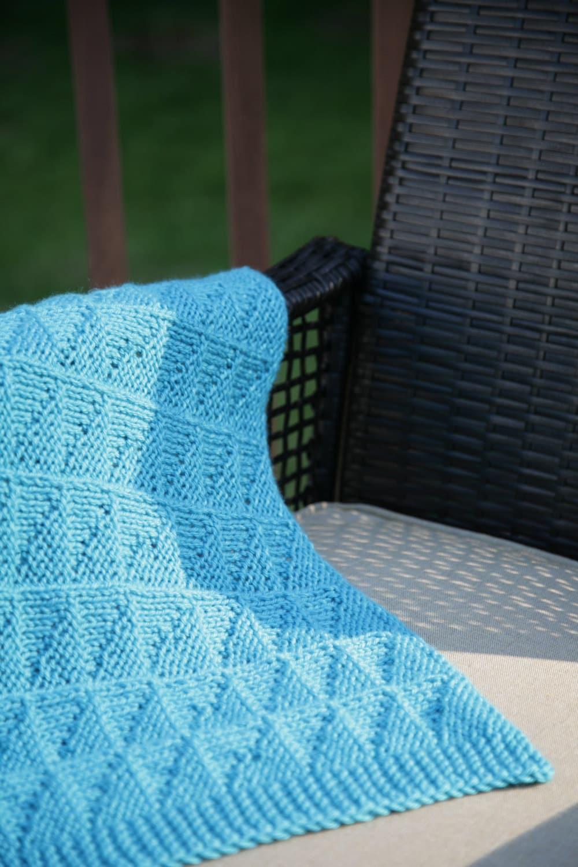 Textured Baby Blanket Knitting Pattern : Blue Light Catcher Textured Reversible Blanket   baby blanket, afghan KNITTIN...