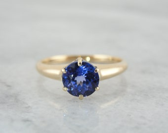 Beautiful Victorian Engagement Ring with Glowing Blue Tanzanite F4XHPZ