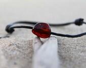 Leather Men's Bracelet Surfer Style Amber Natural Gift For Him Guy bracelet Beach Summer Sunny Brown Orange Organic