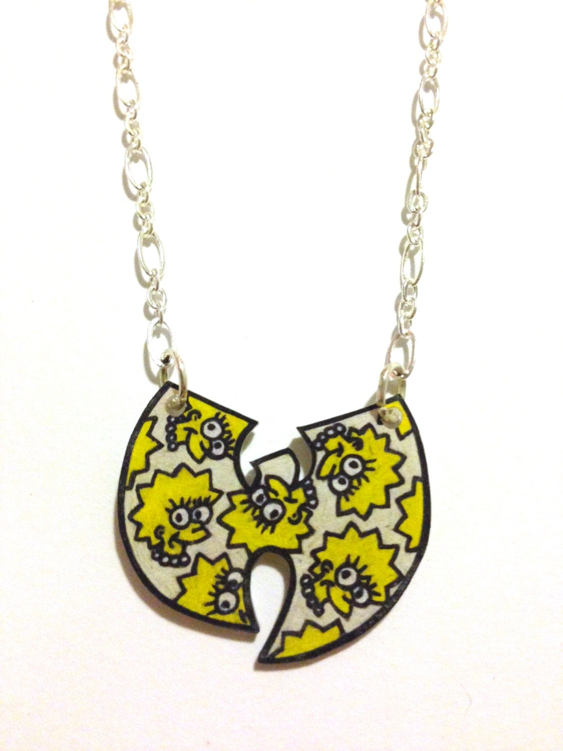 simpsons meets wu tang necklace by houseofhades on etsy