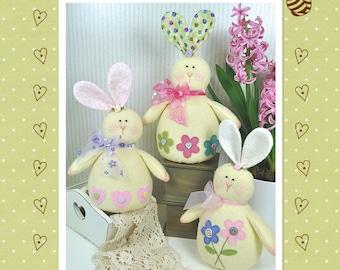 Honey Bunnies Felt Pattern - Easter Decorations