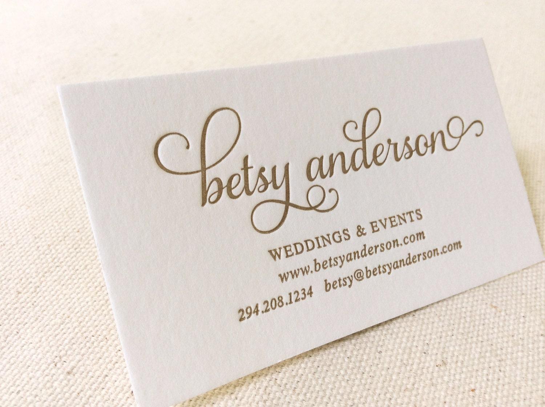 Dinglewood design and press letterpress shop for Party planner business cards