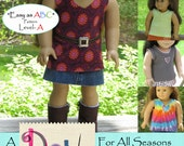 Easy Tank Top pdf pattern for 18 inch AG dolls, no-sew pattern, A Doll For All Seasons