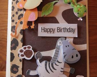 Handmade Cards, Handmade Birthday Cards, Safari Card