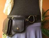 Leather Utility Belt Bag / Fanny Pack / Hip Bag / Iphone 6 Pocket / Steampunk Festival Belt / Burning Man - The Hipster
