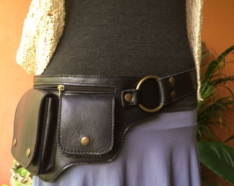 Leather Utility Belt Bag / Fanny Pack / Hip Bag / Iphone 7 Pouch / Steampunk Belt / Festival / Travel Belt / Satchel  / Purse - The Hipster