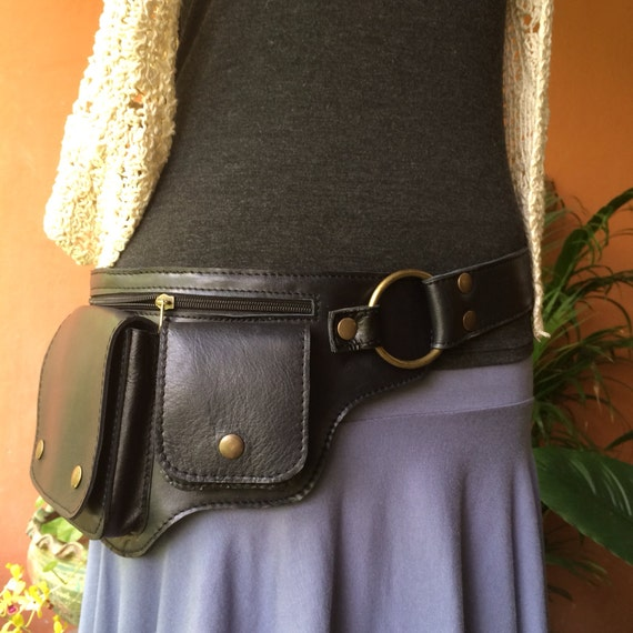 leather utility belt bag hip bag iphone 7 pouch