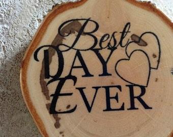 100 Birch Wedding Favor Coasters