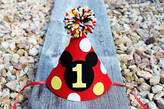 Mickey Mouse 1st Birthday Hat Love Then Just Imagine Your Little Boy On His Special Day Sitting With This Super Cute Party Head