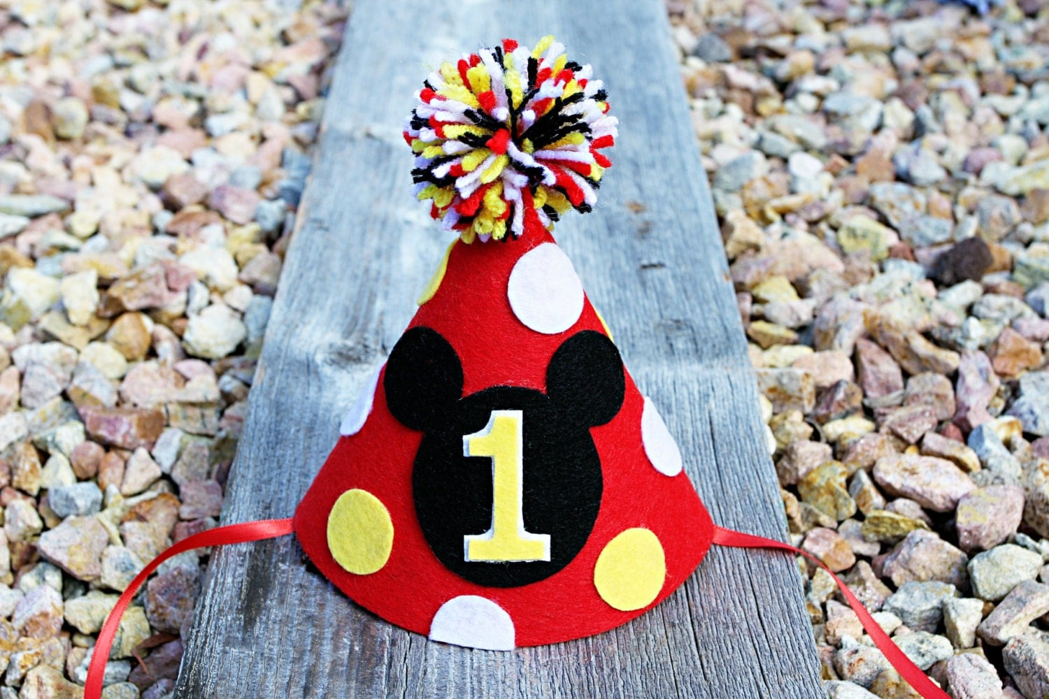 Mickey Mouse 1st Birthday Hat Boys First Birthday by ...