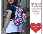 Pixie Faire Dolly Outfitters Large Doll Carrier Backpack Pattern for  Girls and 18 inch American Girl Dolls - PDF