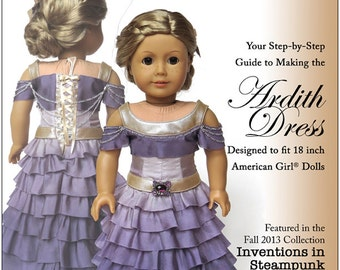 Pixie Faire Melody Valerie Couture Ardith Dress Doll Clothes Pattern for 18 inch American Girl Dolls - PDF