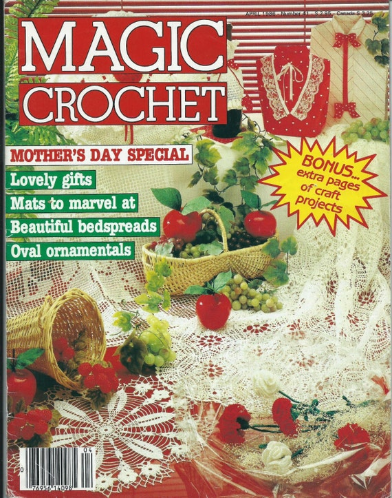 Vintage Magic Crochet Magazine Back Issue April 1986 Number 41