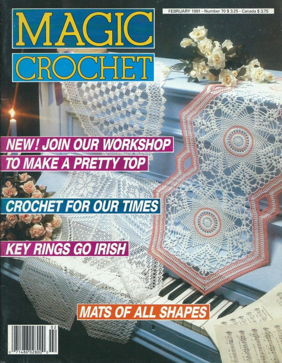 Magic Crochet Magazine : Magic Crochet Magazine Back Issue February 1991 Number 70 Crochet ...