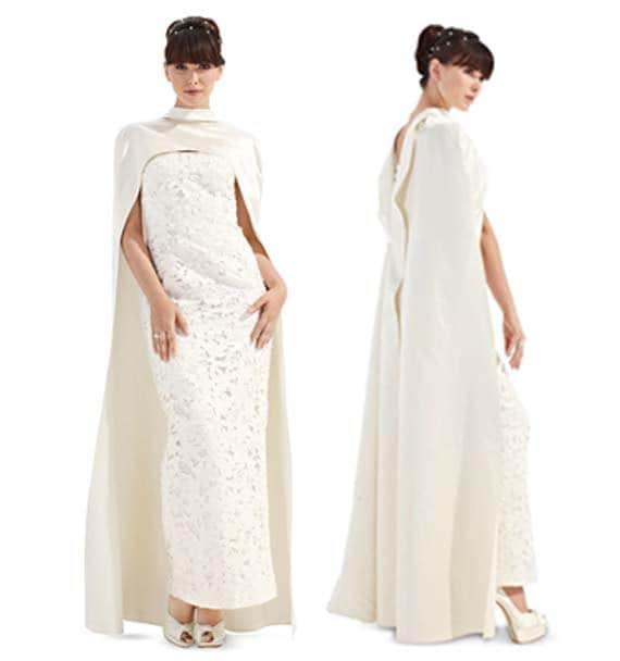 Sheath Wedding Gown Pattern : Sheath dress long fitted cape sewing pattern burda wedding