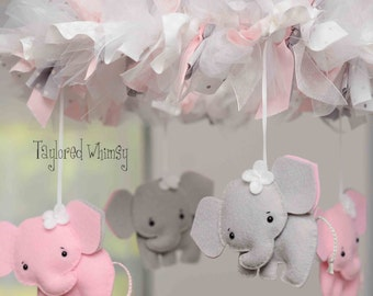 Elephant Mobile - Baby Mobile - Custom Mobile (not ready made) - Ships in 4-6 Weeks