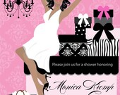 Girl Baby Shower Invitations - Unique and Classy Baby Shower Invites- Digital Printable Invitation File