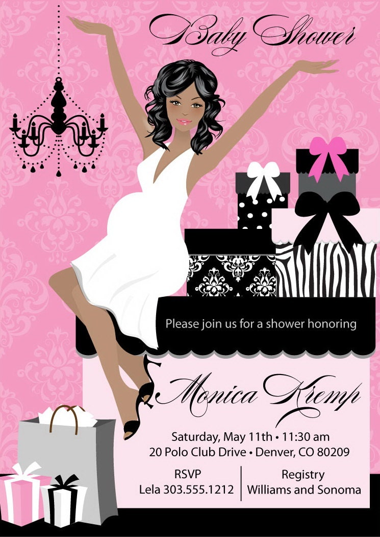 girl baby shower invitations unique and classy baby shower, Baby shower invitations
