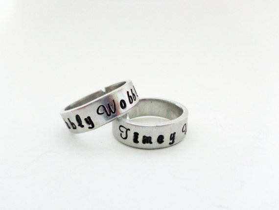 Friendship Ring Set, His and Hers Ring Set, Couples Rings, A Set of TWO Rings, Customizable