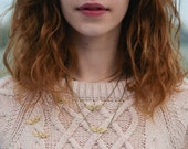 Brass Moth Illustrated Necklace - NATURE GIRL range
