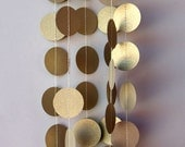 Winter wedding, Winter wedding decor, Gold wedding garland, Gold garland, Paper garland, P-C-0005, Wedding decoration