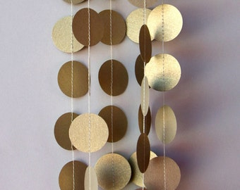 Winter wedding, Winter wedding decor, Gold wedding garland, Gold garland, Paper garland, Wedding decoration, PCX-5910