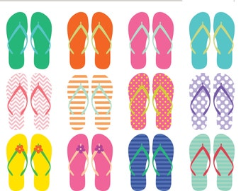 Flip Flop Clip Art (Royalty Free) Sandals Summer Beach clipart