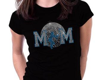 Faded Volleyball Mom Rhinestone Shirt