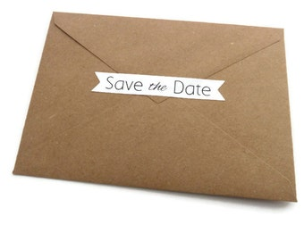 Items similar to save the date sticker set - wedding and bridal ...
