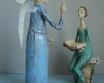 Annunciation (Annuntiatio nativitatis Christi)  - set of 2 figures